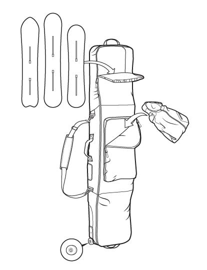 features wheeli gig bag